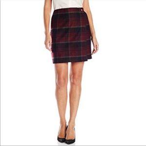 Woolrich wool plaid wrap skirt
